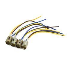 4pcs 3 wires 1157 bulb socket brake turn signal light harness led lamp adapter