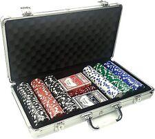 Valigetta 300 Fiches in Metallo 11 Grammi Holdem Texas Poker con Carte Dadi e Ge