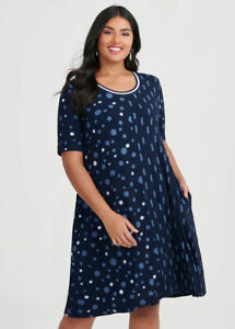 ts Taking Shape Dress Size M Bamboo Dash & Dot Style NWT
