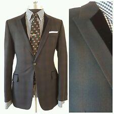$1495New Paul Smith Bespoke Quality Slim Plaid Velvet Tuxedo Jacket Blazer38 48E