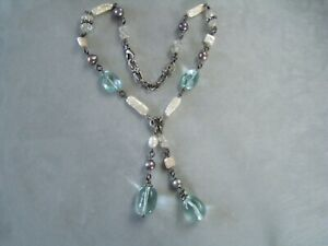 ALANA LEIGH LOVE Blue Topaz Sterling Silver Crystal Necklace