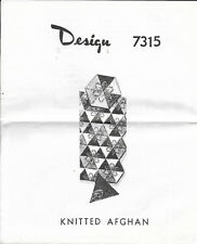 "Vintage Laura Wheeler Needlecraft Pattern for Knittted Hexagon Afghan 59X78"" NEW"