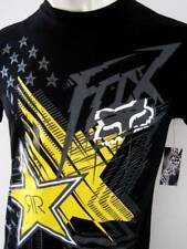FOX RACING ROCKSTAR Mens Premium Top T-shirt Tee Size S M L XL XXL black
