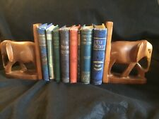 African Elephant Wooden Bookends.