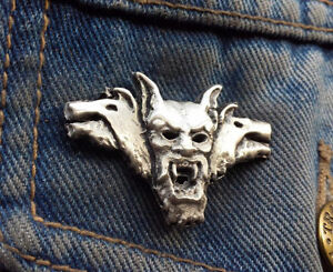 Count Vlad Dracula Vampire Pewter Pin Badge