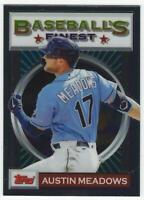 2020 Topps Finest Flashbacks #188 Austin Meadows - Tampa Bay Rays