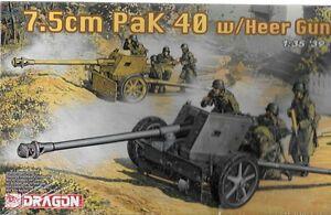 Dragon German 7.5cm Pak 40 Heer Gun Crew 1/35 39-45 Series #6249