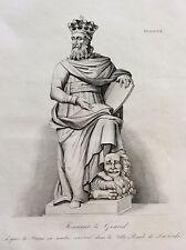 Casimir III Piast Kazimierz III Wielki Roi Pologne gravure XIXe King Poland