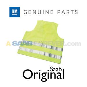 GENUINE SAAB GM SAFETY VEST NEON REFLECTIVE FOR BREAK DOWN VAUXHALL 93199829
