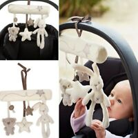 Kids Baby Crib Cot Pram Hanging Rabbit Bear Bell Musical Developmental Stuff Toy