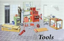 Garage Tools Garageninventar Zubehör in 1:24 Model Kit Bausatz Fujimi 115054