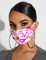 MNS Stoffmaske Maske Behelfsmaske BAUMWOLLE Nasen Mund Gesichtsmaske - pink