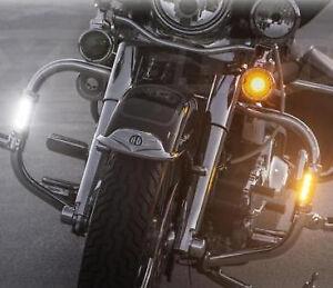 Crash Bar LED Turn Signals With DRL For Harley Davidson, Indian, Victory