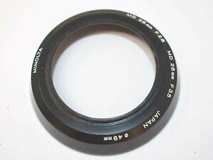 Minolta Screw-In Lens Hood for 28mm f2.8, 28mm f3.5 MD Lenses