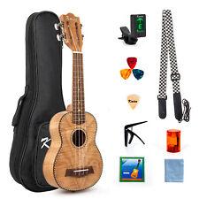 More details for kmise soprano ukelele 21 inch ukulele for beginner classical type tiger flame