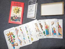 Vintage 1JJ Swiss Tarot Cards 78 Card Deck SR Kaplan 1970's AG Müller Complete!