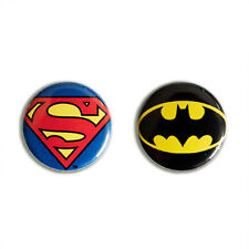 DC Comics: Superhelden - Superman & Batman Logo Buttons - Anstecker 2er Set