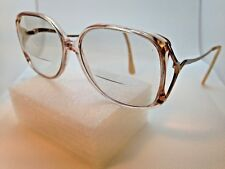 Vintage Ladies Tura 330 PIN 54/15-130 Pink Gold Japan Eyeglass Frame Oversize