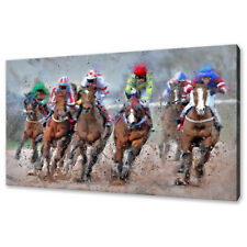 Jockeys Horse race canvas print picture wall art free fast delivery