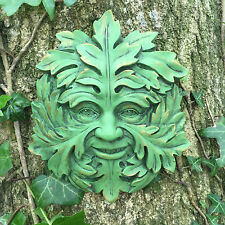 Green Mystic Greenman Garden Wall Plaque Outdoor Celtic Pagan Decorative 09064