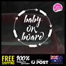 Baby On Board Waterproof Decal Vinyl Sticker 115x115mm Funny Boy Girl Mumlife