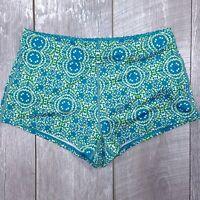 Columbia Siren Splash Lined Shorts Womens Medium Blue Performance Booty SH221