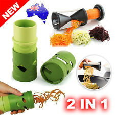 2PK Vegetable Peeler Spiralizer Fruit Spiral Slicer Twister Cutter Food Tool