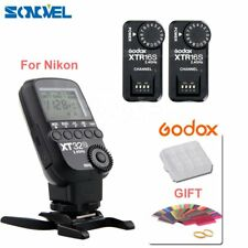 Godox XT32N 2.4G HSS Flash Trigger Transmitter for Nikon + 2*XTR-16S Receiver