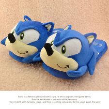 Sonic plush Slippers Blue Hedgehog Adult  Sega Video Game