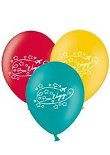 "Bon Voyage -  Safe Journey - 12"" Printed Latex Balloons Assorted pack of 5"