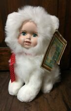"NEW 2000 Ashley Belle Prance Cat w/Porcelain Doll Face 10"" Collectible Plush"