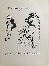 "CHAGALL ""HOMMAGE A SAN LAZZARO"""