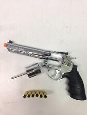 Airsoft Pistol GBB HFC 6 inch Barrel Gas Revolver Airsoft Gun 300 FPS - Chrome