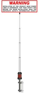 Sirio Gain-Master (5/8 Wave) - CB Base Antenna (25-30 MHZ) (No Tuning Required)