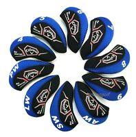 10X Blue Neoprene Callaway Big Bertha Golf Club Iron Covers HeadCovers UK Stock