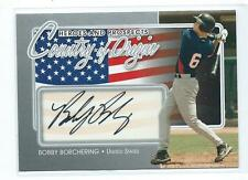 2011 ITG Heroes & Prospects Bobby Borchering Country of Origin AUTO AUTOGRAPH RC