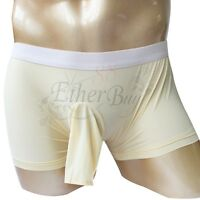 Sexy Mens G-string Thong Pouch Boxer Briefs Open Penis Sheath Underwear