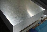 Tole Acier Galvanisé ép. 1/2/3/4 mm  , plaque acier, pliage, dimension aux choix