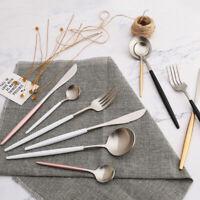 Stainless Steel Cutlery Dinnerware Fork Spoon Dinner Tableware  4Pcs/Set LI