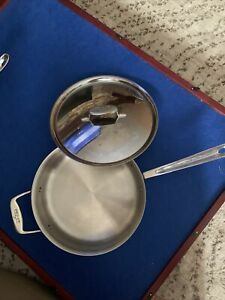 All Clad D5 Stainless 4 Qt Frypan With Cover