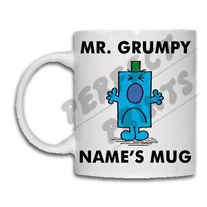 MR MEN Personalised Mug NAME Coffee Cup Tea Christmas Gift Idea Birthday His Dad