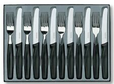 VICTORINOX 6.7833.12 CLASSIC 12 PIECE KNIFE & FORK SET SWISS / SET FOR 6 PEOPLE