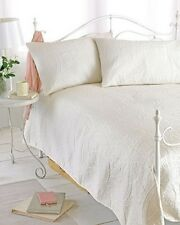 Cream Reversible Embossed Quilted Bedspread Parisienne Includes 2 240cm X by