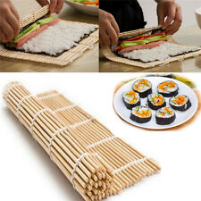 Sushi Rolling Roller Mat  DIY Maker Bamboo Material Home  Kitchen Tools Gadgets