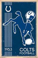INDIANAPOLIS COLTS - RETRO LOGO POSTER - 22x34 NFL FOOTBALL 13175