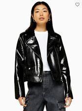 Women/'s Bravesoul Style Bomber Veste en Noir Avec Poches Tailles 10-16