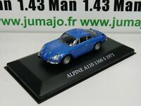 RE75G voiture 1/43 atlas Chapatte NOREV : RENAULT Alpine A110 1300 S 1971