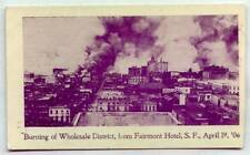 Burning Of Wolesale District From Fairmont Hotel April 19 1906 San Francisco CAL