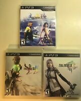 Final Fantasy PS3 Lot - Final Fantasy XIII, XIII-2 and X X-2 w Manuals - 3 Games