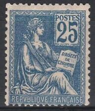 "FRANCE STAMP TIMBRE N° 118 "" MOUCHON 25c BLEU TYPE II 1900 "" NEUF xx TTB  M194"